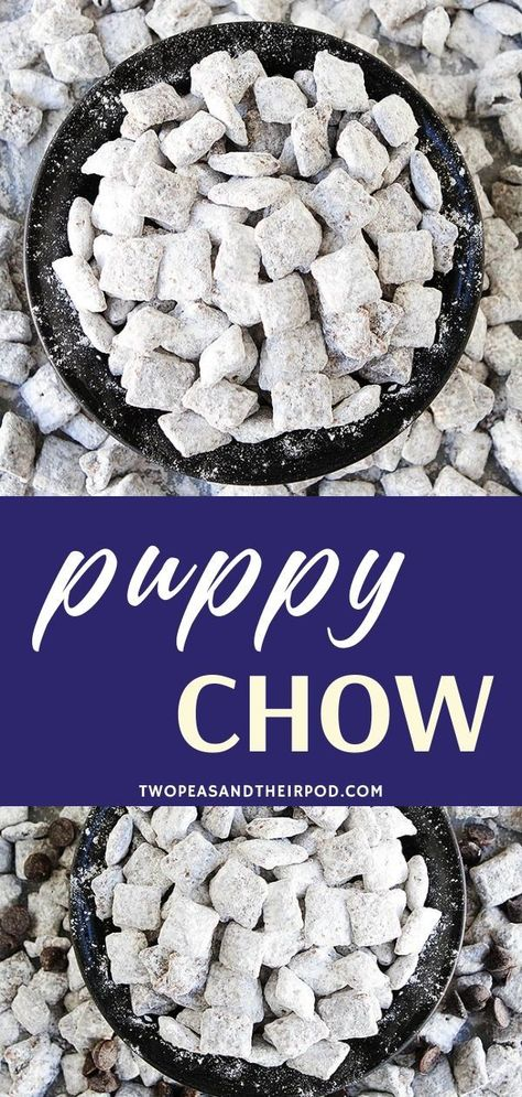 Puppy Chow Recipe {Muddy Buddies} The best Puppy Chow (Muddy Buddies) recipe and it's so easy to make! You will love this decadent chocolate peanut butter cereal treat! It is the perfect party recipe and always a hit during the holidays. Puppy Chow Crispix Recipe, Puppy Chow Recipes, Chex Mix Recipes, Snack Recipes, Dessert Recipes, Recipe Puppy, Easy Recipes, Decadent Chocolate, Bakken