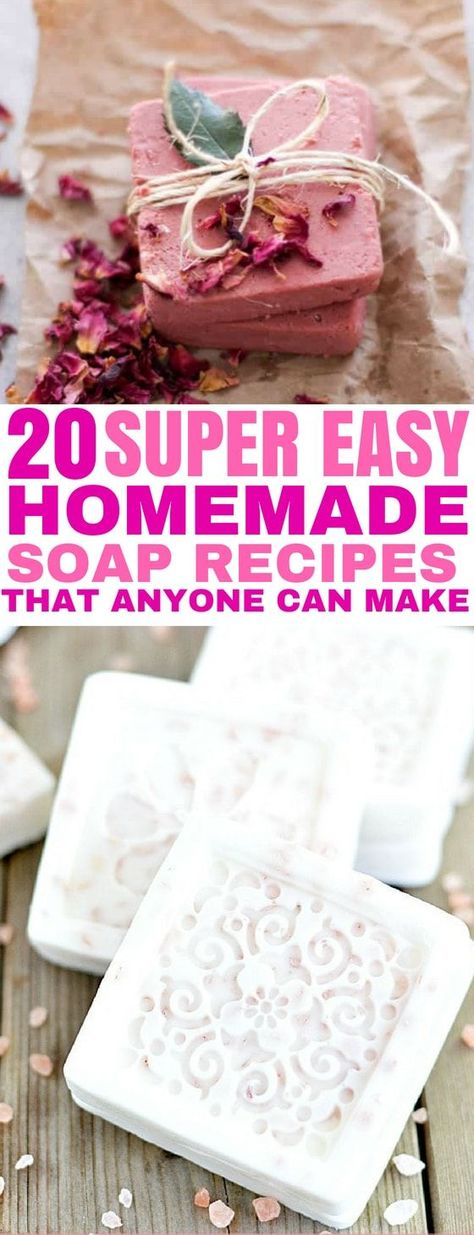 20 Easy Homemade Soap Recipes That Anyone Can Make