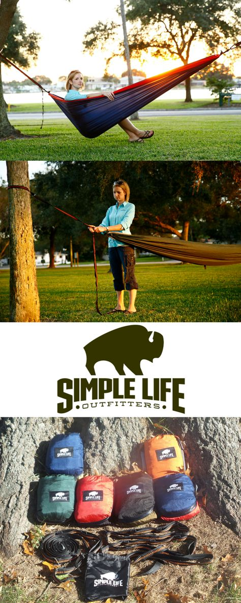 Do you have someone in your life who loves camping outdoors? At SimpleLifeOutfitters.com our Ultimate Outdoor Nylon Portable Camping Hammock for Two is a wonderful gift for those that enjoy the great outdoors. Lightweight, compact & portable for camping, hiking. Made of Durable Parachute Nylon and can easily carry 400 lbs.