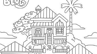 House Disney Coloring Pages Abc For Kids Printables Kids