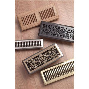 Wood And Metal Floor Registers And Grilles For Hardwood Floors Floor Registers Metal Floor Floor Vents