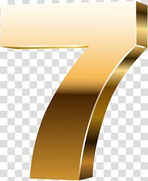 7 Illustration Yellow Font Angle Design Number Seven 3d Gold Transparent Background Png Clipart Transparent Background Mirror Illustration Clip Art