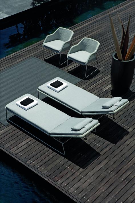 Lounger en résine de Manutti | Balcon | Garden furniture ...