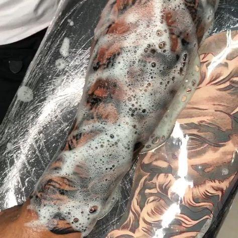 Beautiful Arm Artistic Tattoo!