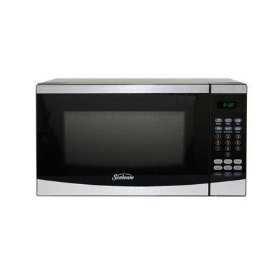 07 Cu Ft700w Countertop Microwave Finish Stainless Steel By Sunbeam Click Image To
