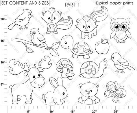 Are you looking for cute high quality images to use in your projects? You've come to the right place! You can print these digital stamps to create coloring pages for your party, educational material, paper crafts, watercolor and decorative painting and more! PLEASE TAKE A MOMENT TO READ MY PRODUCT DESCRIPTION AND SHOP POLICIES BEFORE PURCHASING THIS ITEM, even if you have purchased something from my shop in the past – I know this can seem a little bit boring but once you read them, you wil...