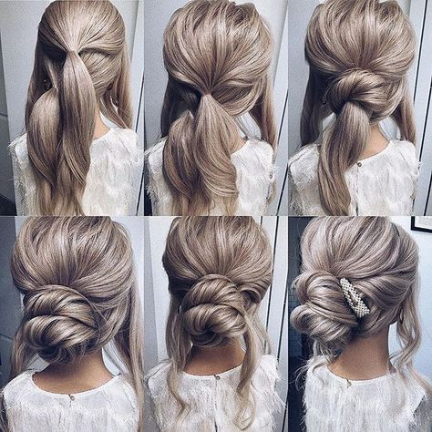 Chic and Elegant Long Hairstyles to Impress Your Boyfriend! Try this Elegant Long Hairstyles For Valentines Day Easy Updo Bridesmaid Hair Tutorial, Bridal Hair Tutorial, Bridesmaid Hair Updo, Simple Bridesmaid Hair, Wedding Hairstyles Tutorial, Bridal Hair Updo, Fancy Hairstyles, Updo Hairstyles Tutorials, Hair Updo Tutorial