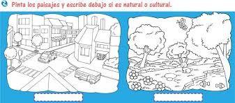Resultado De Imagen Para Guia De Paisaje Natural Y Cultural Dibujos Para Colorear Paisajes Paisaje Para Colorear