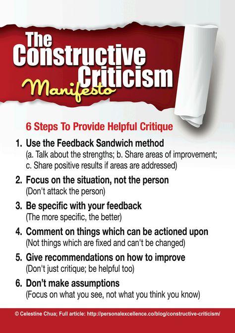 The Constructive Criticism Manifesto [Manifesto] - Personal Excellence