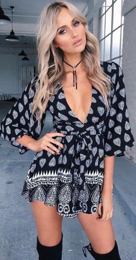 #summer #tigermist #outfits | Boho Print Playsuit