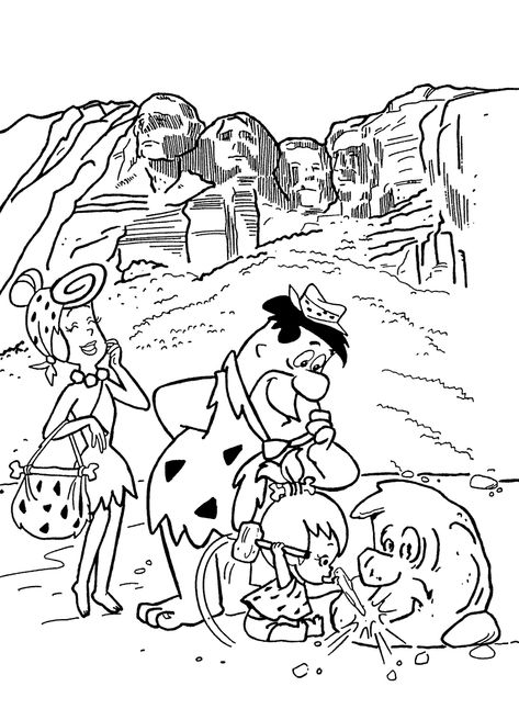 Flintstones printable coloring pages for kids. Download free ...