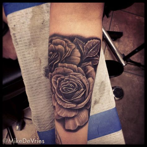 Mike DeVries - Black and Gray Roses