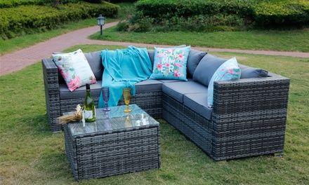 Yakoe Sicily Outdoor Furniture Set With Optional Cover With Free Delivery Outdoor Furniture Sets Corner Sofa Set Garden Sofa Set