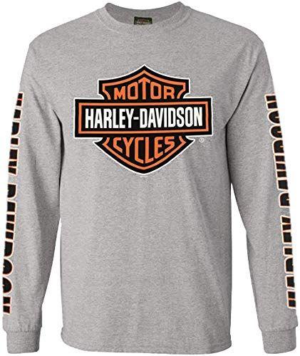 New Harley Davidson Men S Bar Shield Long Sleeve Crew Neck Shirt Gray 30297501 Fashion Men Shirts 39 Men Shirt Style Long Sleeve Tshirt Men Crew Neck Shirt