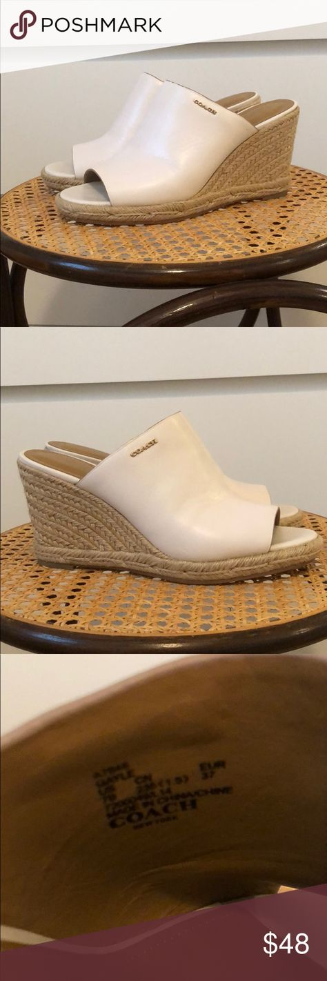 Coach ✨ Gayle leather wedges Great pair of Coach Leather wedges! Size 7 no trades. Coach Shoes Wedges