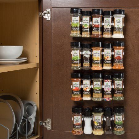 Spice Rack Organizer Cabinet Gripper Clip Strips For Kitchen Countertop And Pantry Organization And Spices Storage By Lavish Home Walmart Com Spice Rack Organiser Spice Storage Spice Rack