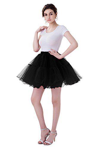 Vintage Damen Mini 1950er Petticoat Rockabilly Tutu Misshow Organza oWrdCBxe
