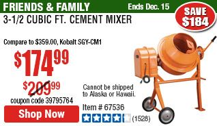3 1 2 Cubic Ft Cement Mixer In 2020 Cement Mixers Cement Mixer