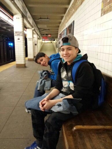My Sons Isaiah E Rosario Back And Justice D Rosario Hat At The Morgan Ave L Train Stop April 2014 Rosario Hats George