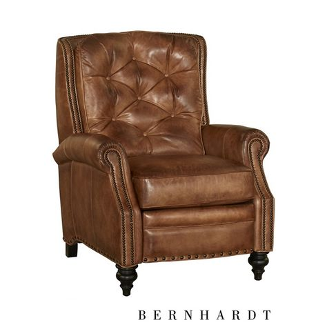 Miller Recliner - Find the Perfect Style! Brown Leather Recliner, Leather Recliner Chair, Leather Club Chairs, Home Decor Furniture, Living Room Furniture, Furniture Shopping, New Living Room, Living Room Decor, Family Room Design