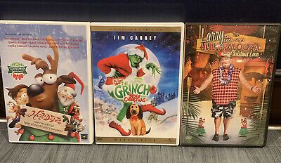 3 Christmas DVD. Holidaze How the Grinch Stole Christmas Larry's