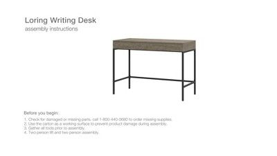 Loring Wood Writing Desk With Drawers Project 62 Wood Writing Desk Vintage Writing Desk Writing Desk With Drawers