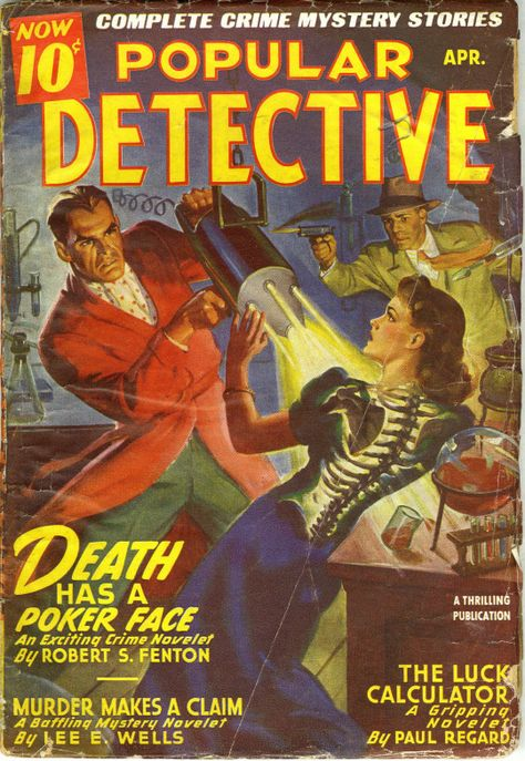 3282.Illustration from Detective book crime POSTER.Home Room Office art decor