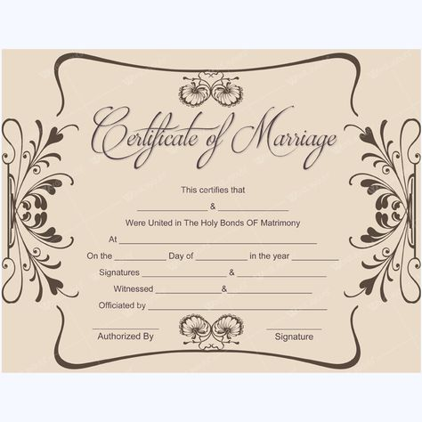marriage certificate template blank #blankcertificate - marriage certificate template