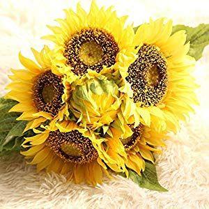 Silk Sunflowers 42pc Bulk Artificial Flowers Sunflower Wedding Fall Wedding Cheap Silk Flowers In Bu Beautiful Flowers Sunflower Wedding Artificial Flowers