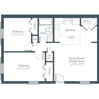 2 Bedroom Apartment Design Image Galleries Imagekb Com 2 Simple Two Bedroom Hou Apartment In 2020 2 Bedroom Apartment Floor Plan Floor Plan Design Apartment Plans