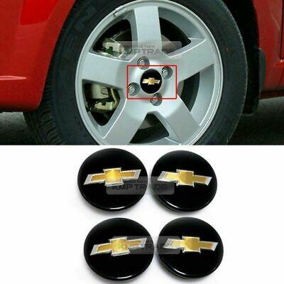 Oem Wheel Center Cap 3d Emblem Cover Glossy Black For Chevrolet 06