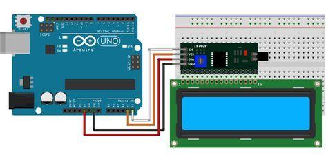 Arduino display lcd 16x2 i2c schema | Elektronica - Elektronica