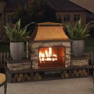 Outdoor Fireplaces Fire Pits You Ll Love Wayfair With Images