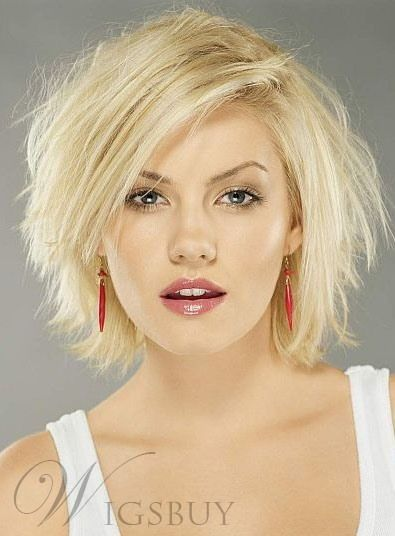 Messy Carefree Layered Straight Blonde 10 Inches Lace Front Bob