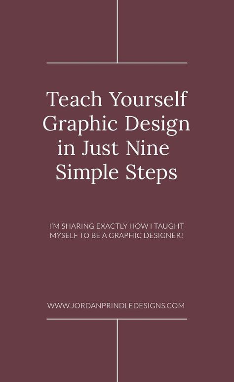 9 Easy Ways To Teach Yourself Graphic Design