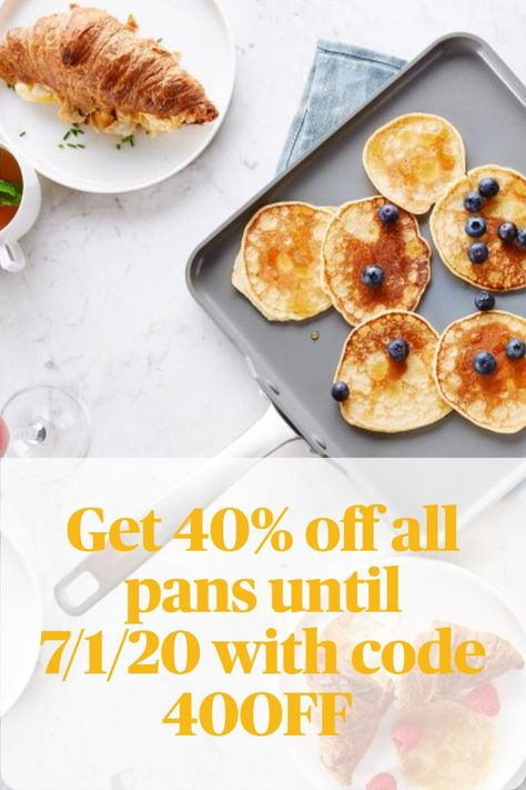 Get 40% off all Greenpan pans until 7/1/20 with code 40OFF
