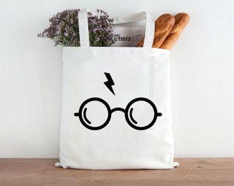 Tote bag noir Harry potter Sacs à main et sacs portés à l
