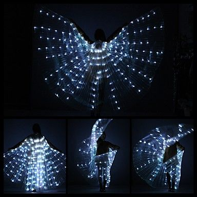 Belly Dance LED Isis Wings Women's Performance 3 Pieces Belly Dancing Accessory Stage Performance Props 8 colors available Christmas Halloween 6008676 2017 – $79.99