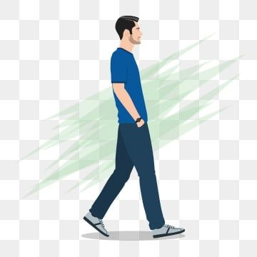 Side View Of A Man Walking Forward Man Clipart Walking Man Png And Vector With Transparent Background For Free Download In 2021 Walking Man Man Clipart Walking Poses