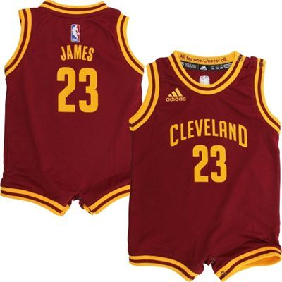 adidas LeBron James Cleveland Cavaliers Infant Wine Replica Jersey Romper