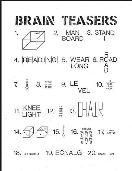 math worksheet : 12 best crosswords and brain teasers images on pinterest  rebus  : Brain Teasers Worksheets