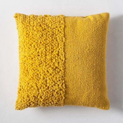 Yellow Solid Textured Throw Pillow Project 62 Target With