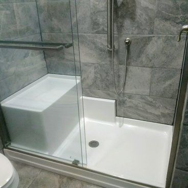 60 X 37 Freedom Easy Step Shower Pan With Molded Seat Left