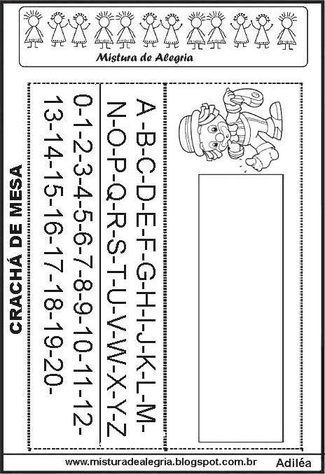 Cracha De Mesa Educacao Infantil Palha C3 A7o Imprimir Jpg 464