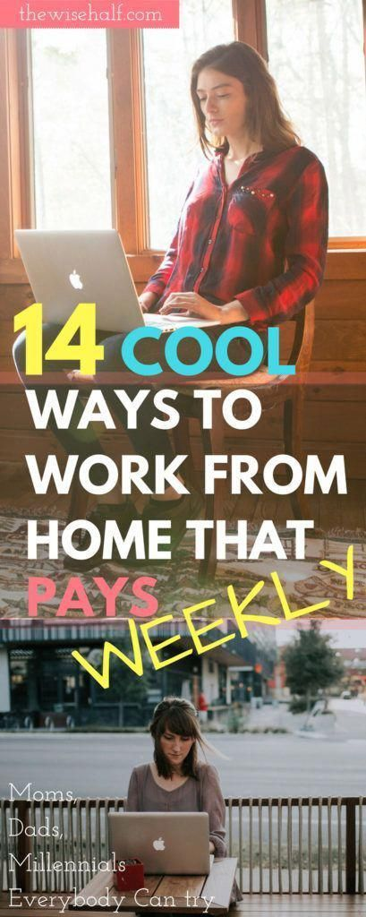 15 Online jobs that pay weekly. Legit websites and money-making apps.