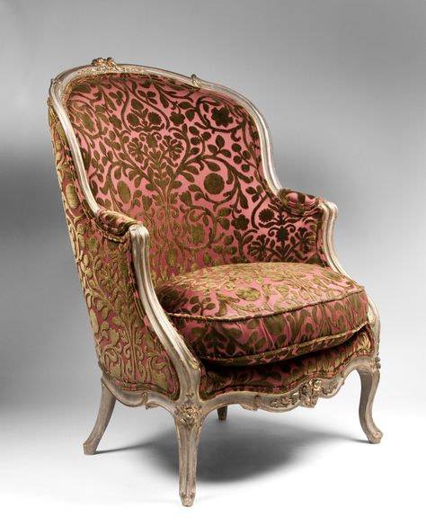 Painted Beechwood Louis Xv Bergere Chair Early 19th Century