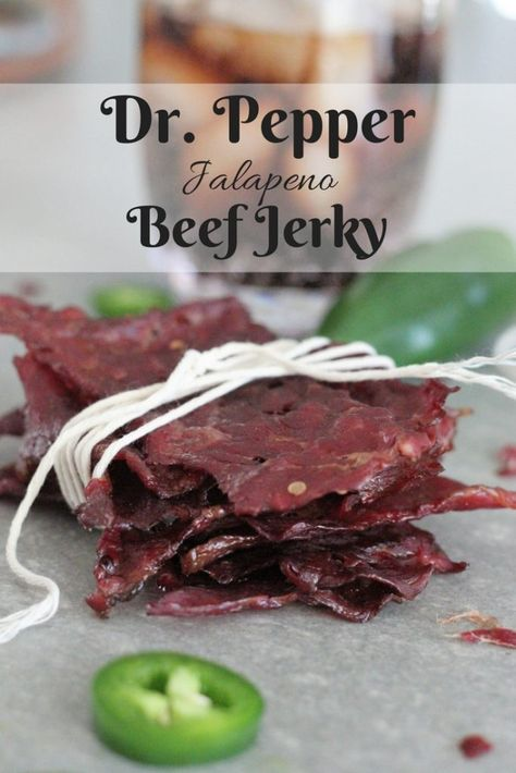 My Dr. Pepper Jalapeno Beef Jerky is legendary! This post includes steps on how to make beef jerky and the best beef jerky recipe ever. We are going to be talking cuts of meat, slicing tips, marinating basics, and dehydrating vs. Jalapeno Beef Jerky Recipe, Deer Jerky Recipe, Smoked Beef Jerky, Best Beef Jerky, Homemade Beef Jerky, Venison Recipes, Beef Jerky Marinade, Venison Jerky Recipe, Dr Pepper Jerky Recipe