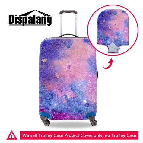 Travel Bags Purple Sparkle Star Portable Tote Trolley Handle Luggage Bag