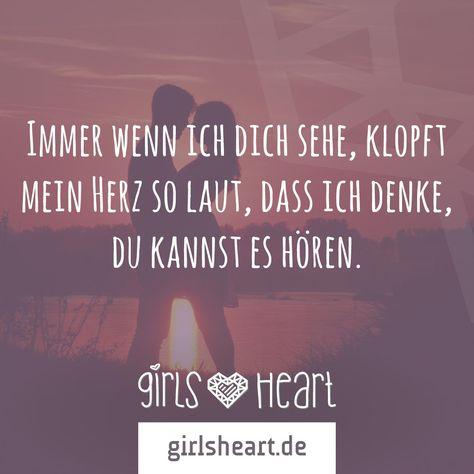 Markiert hier eure große Liebe, die euer Herz zum Schlagen bringt!  Mehr Sprüche auf: www.girlsheart.de  #liebe #partner #herz #herzklopfen