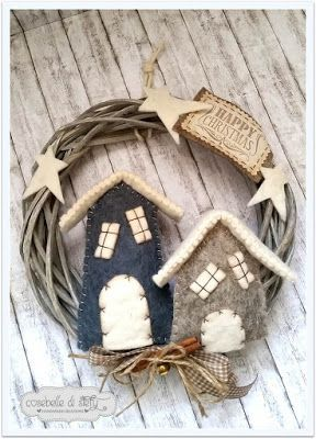 Christmas time is coming, and we keep providing you with house decoration ideas! Enjoy these woolen Christmas decorations and ideas by Cosebelle Di Stefy.